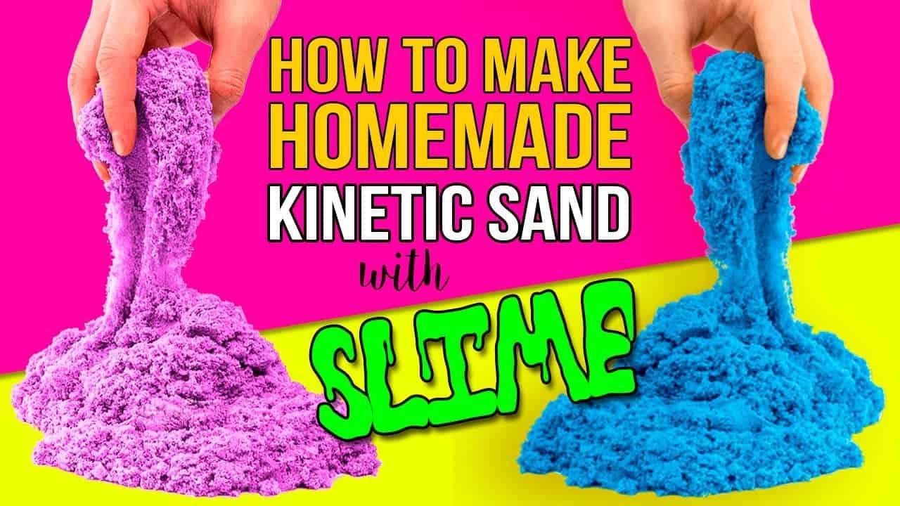 Colourful sand slime