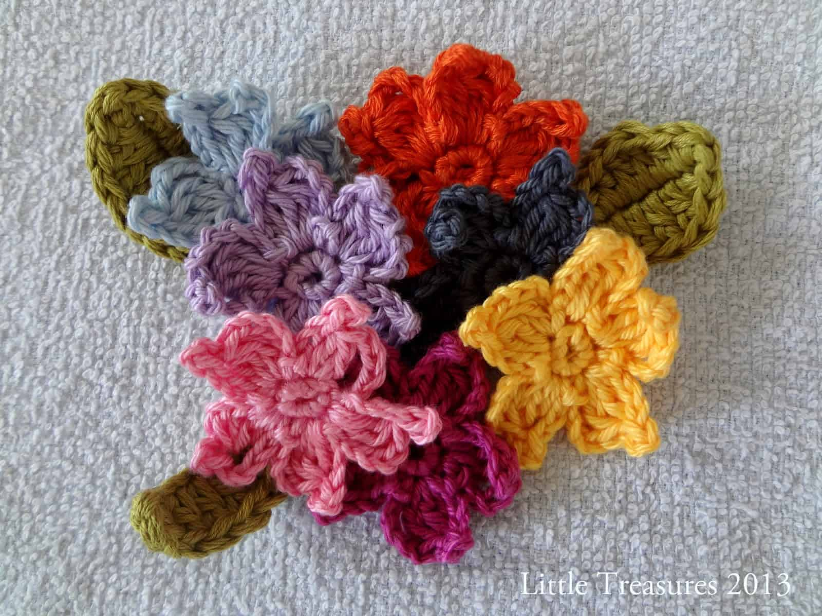 Crocheted ademium flowers