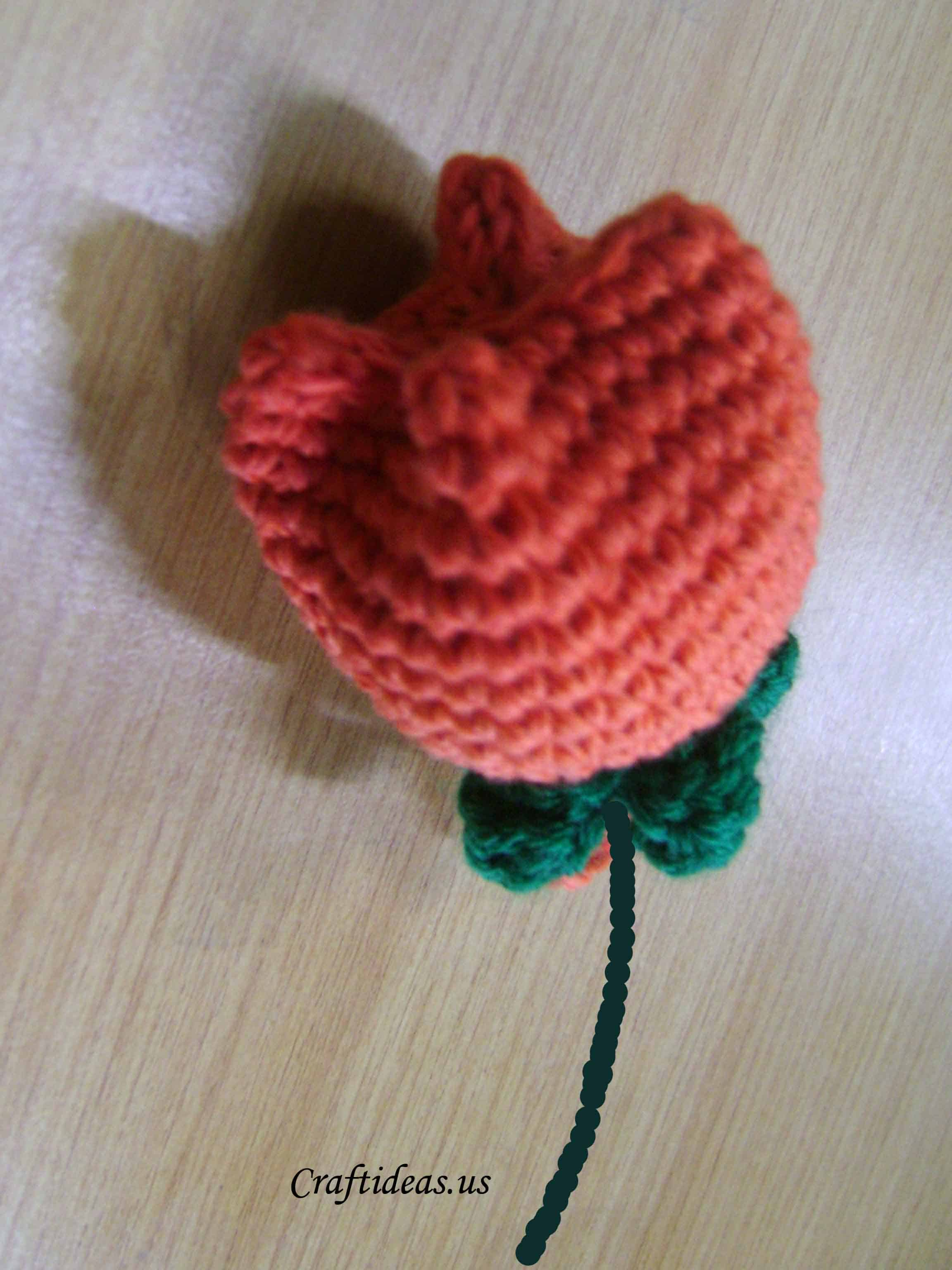Crocheted tulip flower