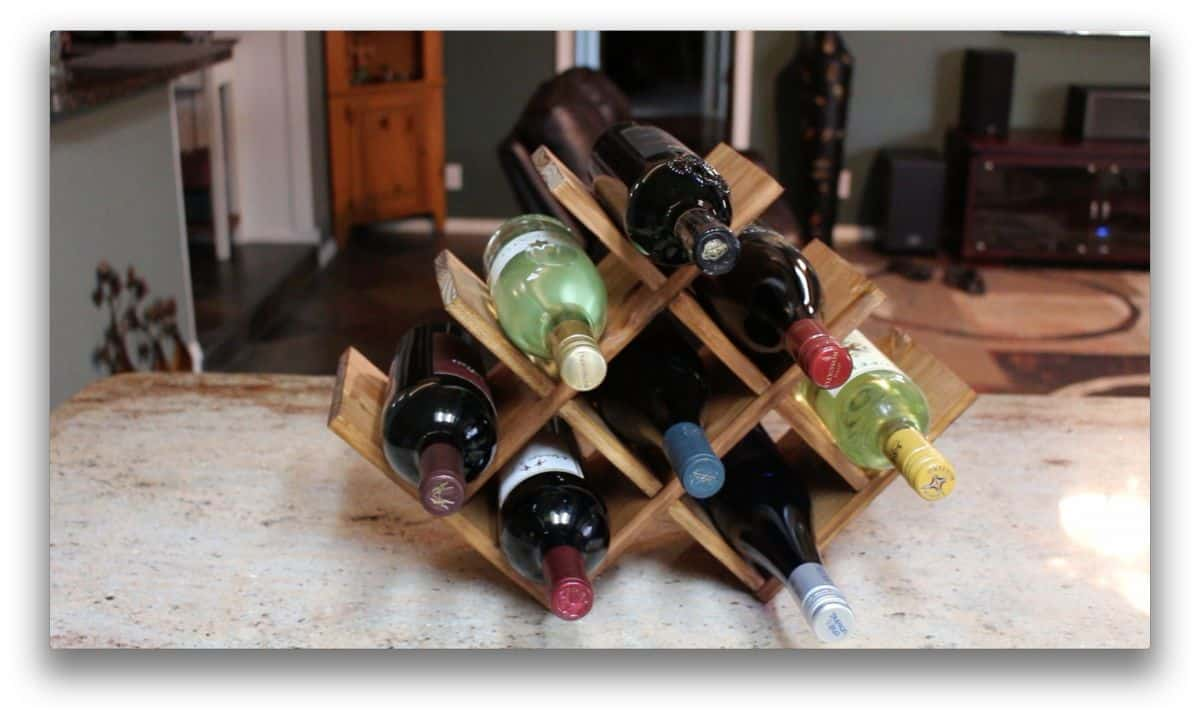 Croiss cross countertop wine rack