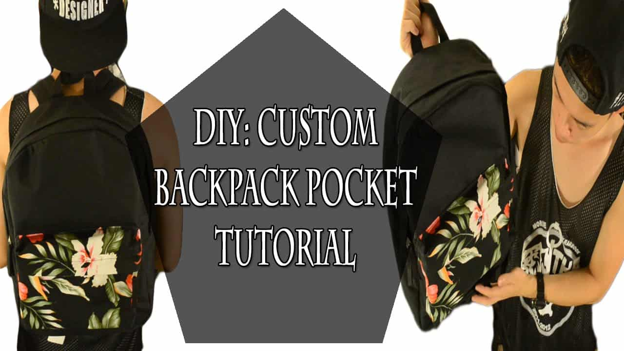 Custom backpack pocket addition