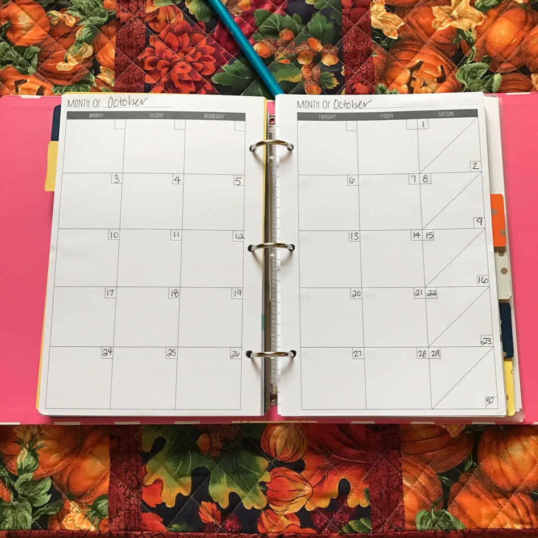 Custom three ring planner