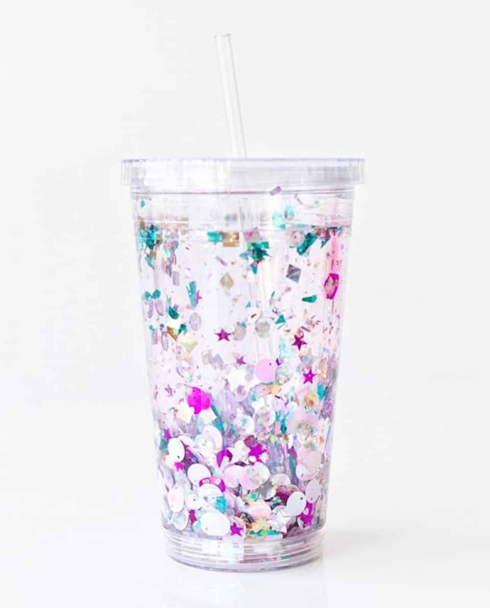 Diy floating glitter tumbler