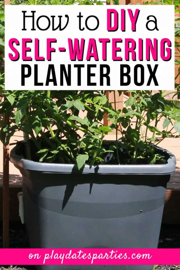 Diy self watering planter box