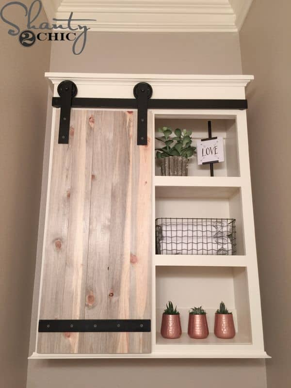 Diy barn door medicine cabinet