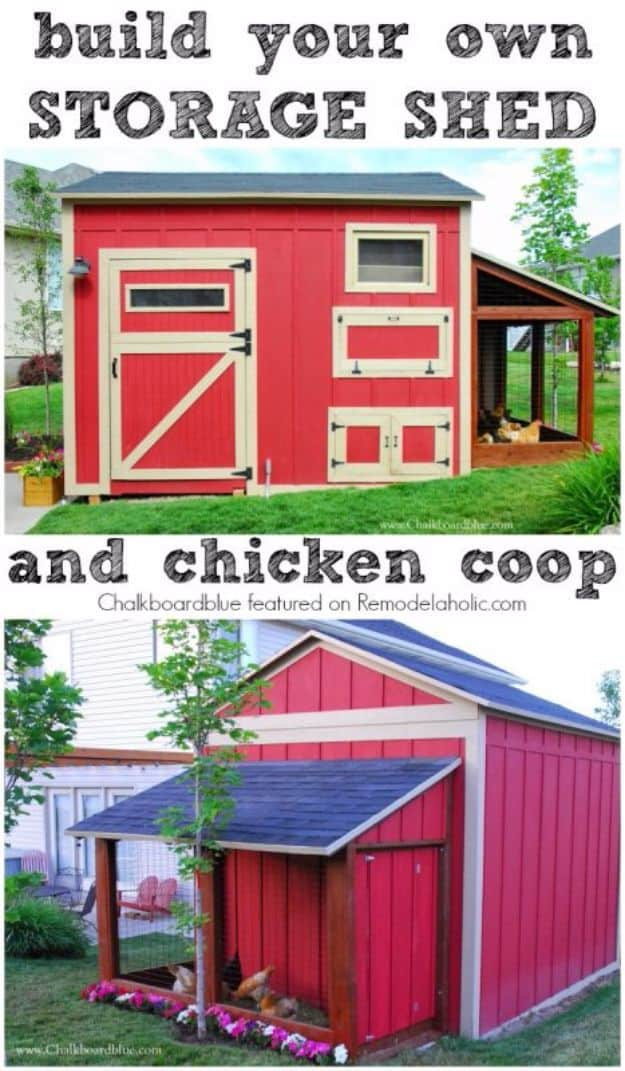 Diy chicken coop and shed combo