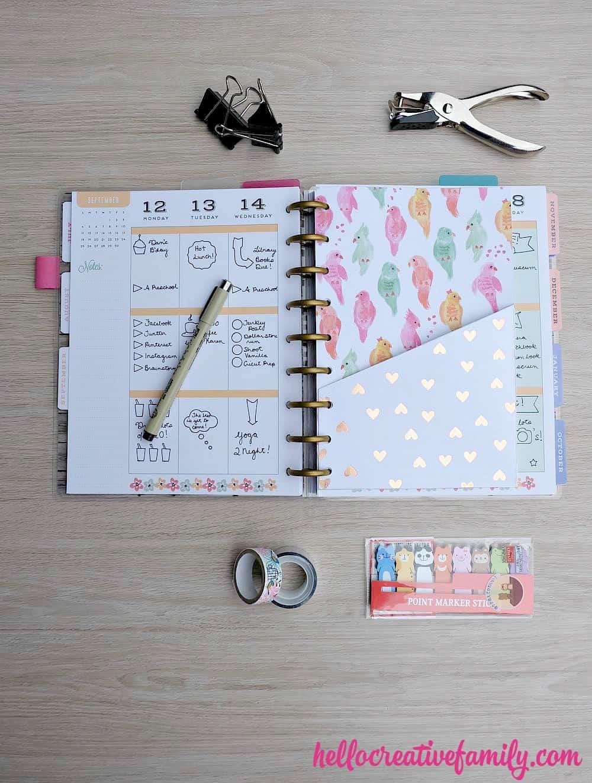 Diy fold pocket planner