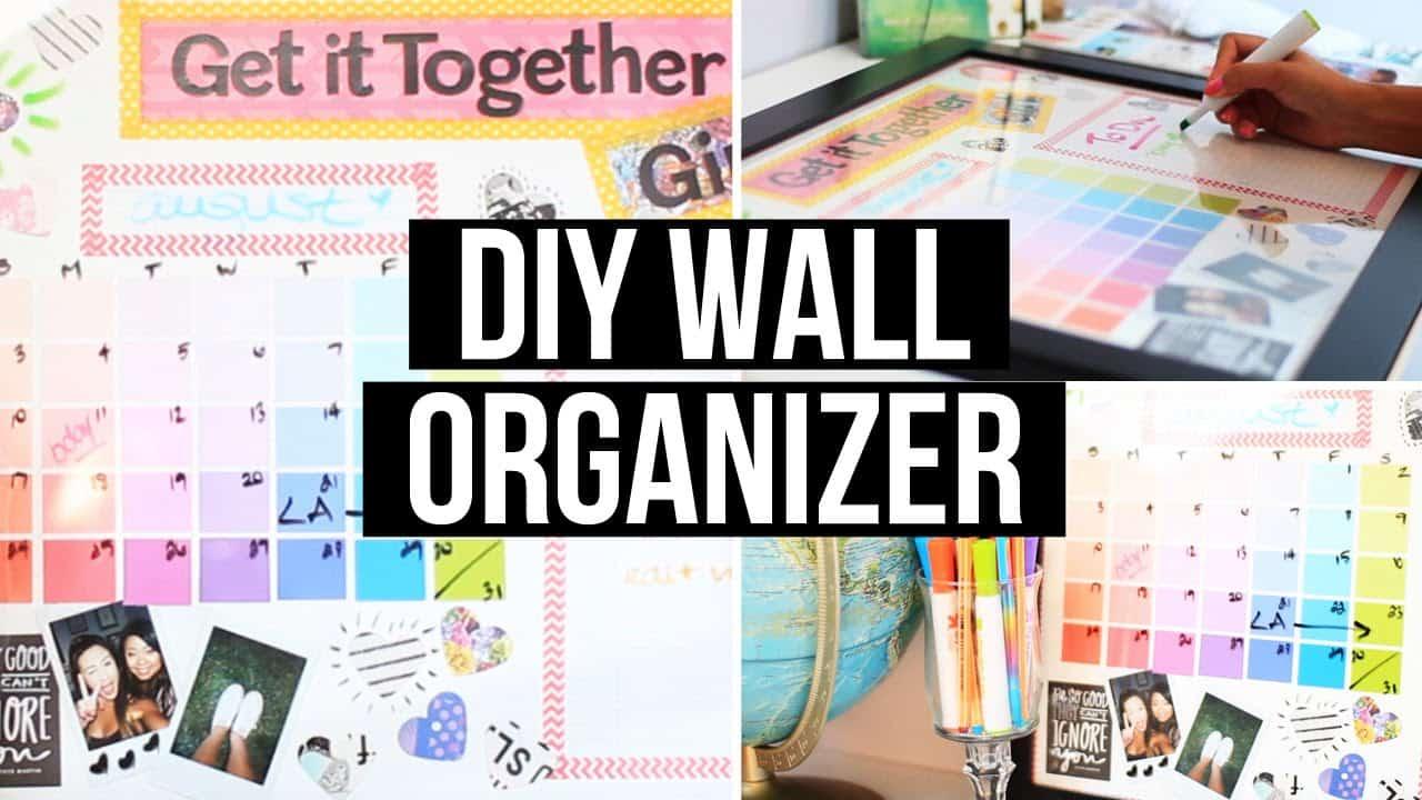 Diy framed paint chip erasable wall organizer