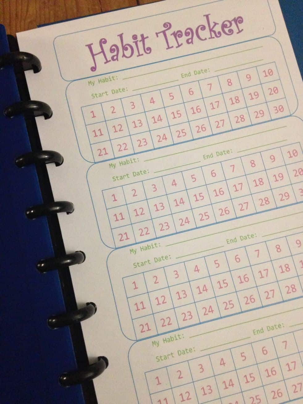 Diy habit tracker planner pages