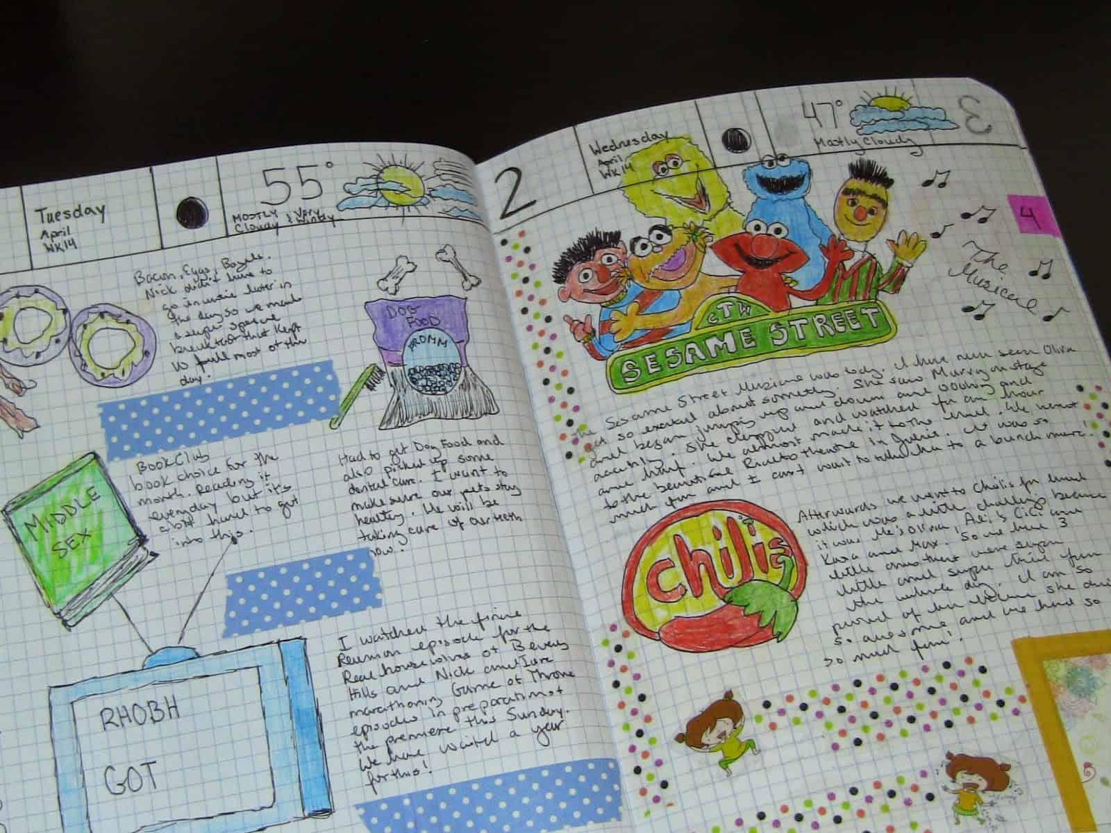 Diy illustrated hobonichi planner