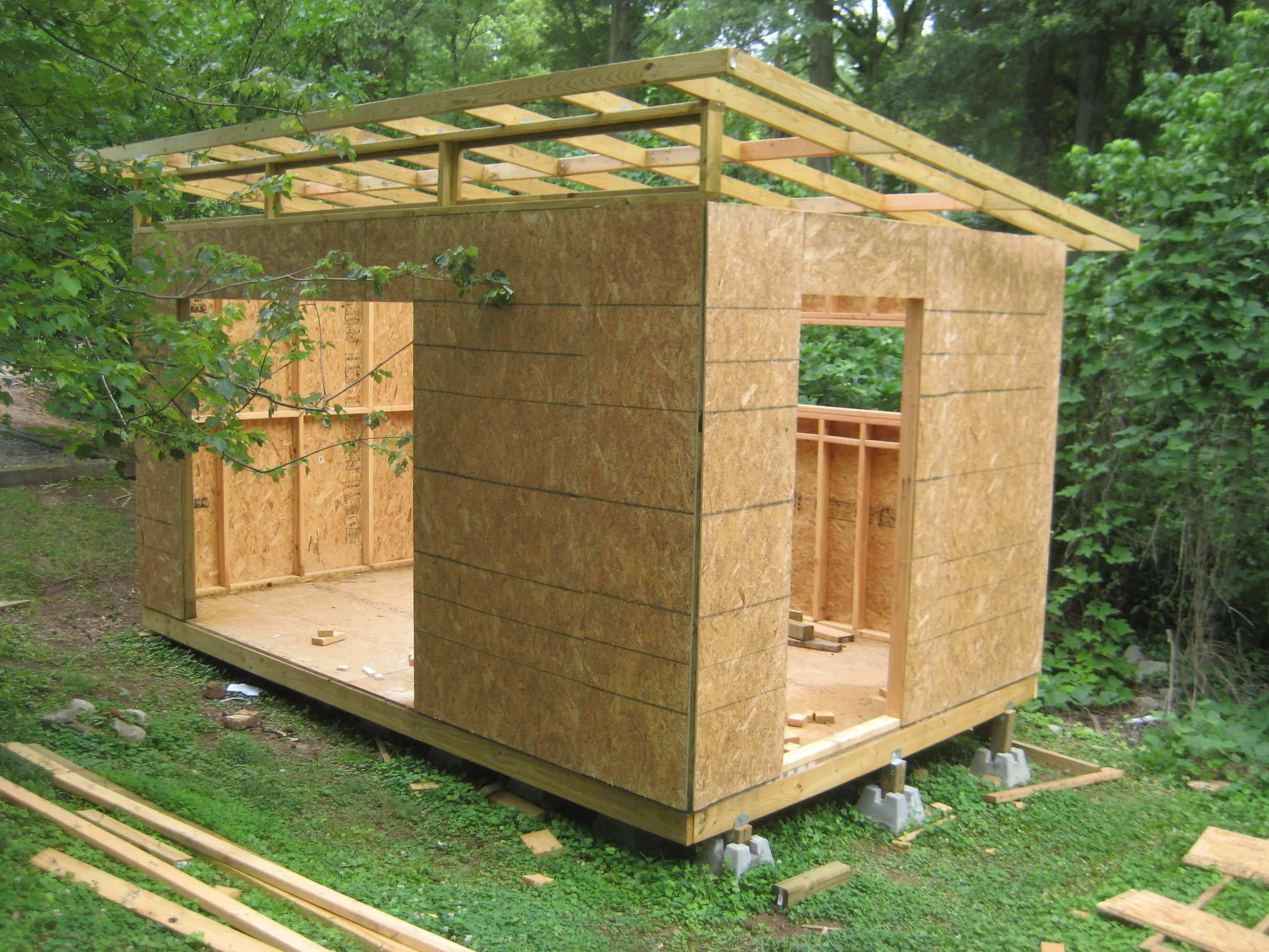 Diy modern lean to shed