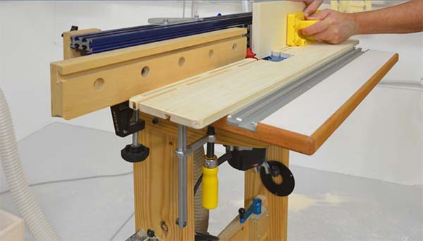 Diy pressure jog for a router table