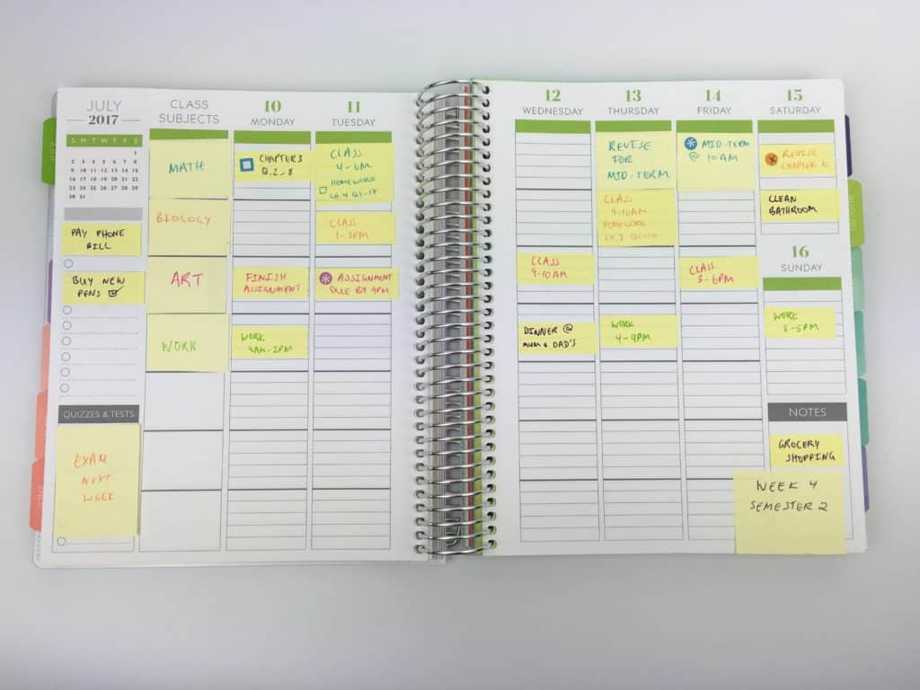 Diy sticky note strategies for premade planners