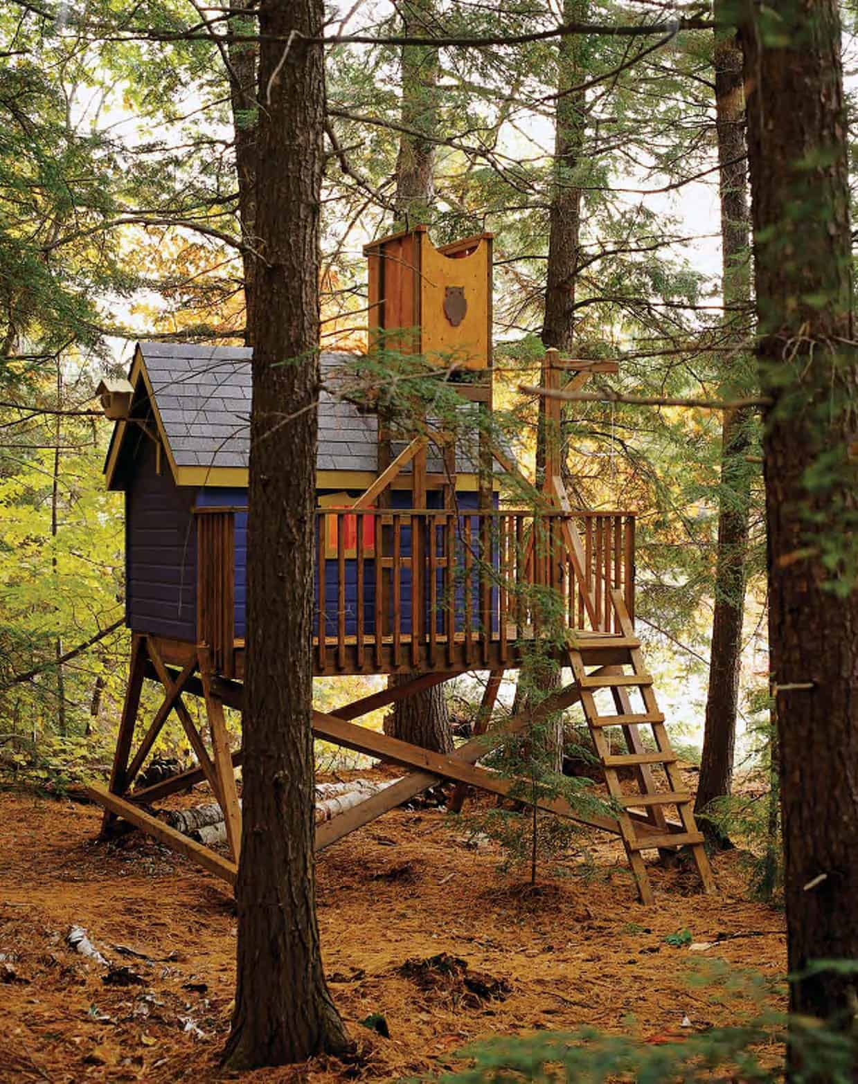 Deck supported tree house