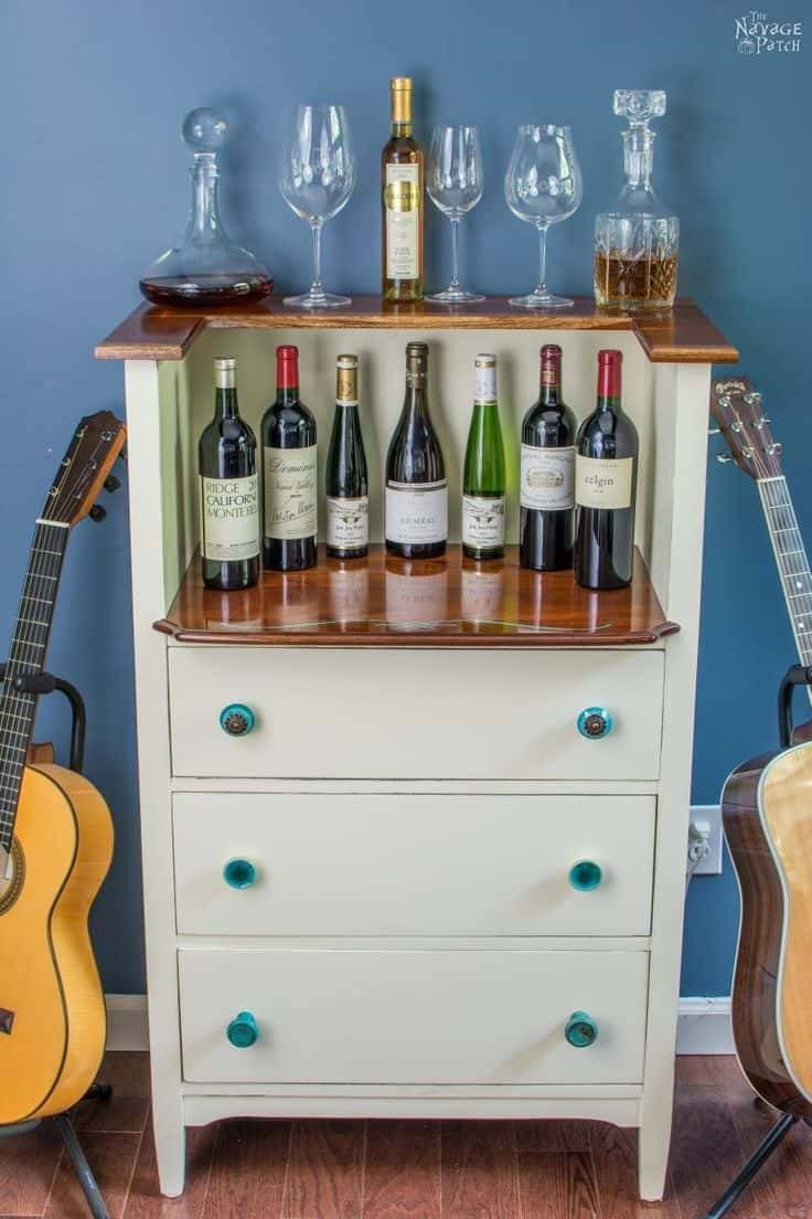 Dresser to wine bar project