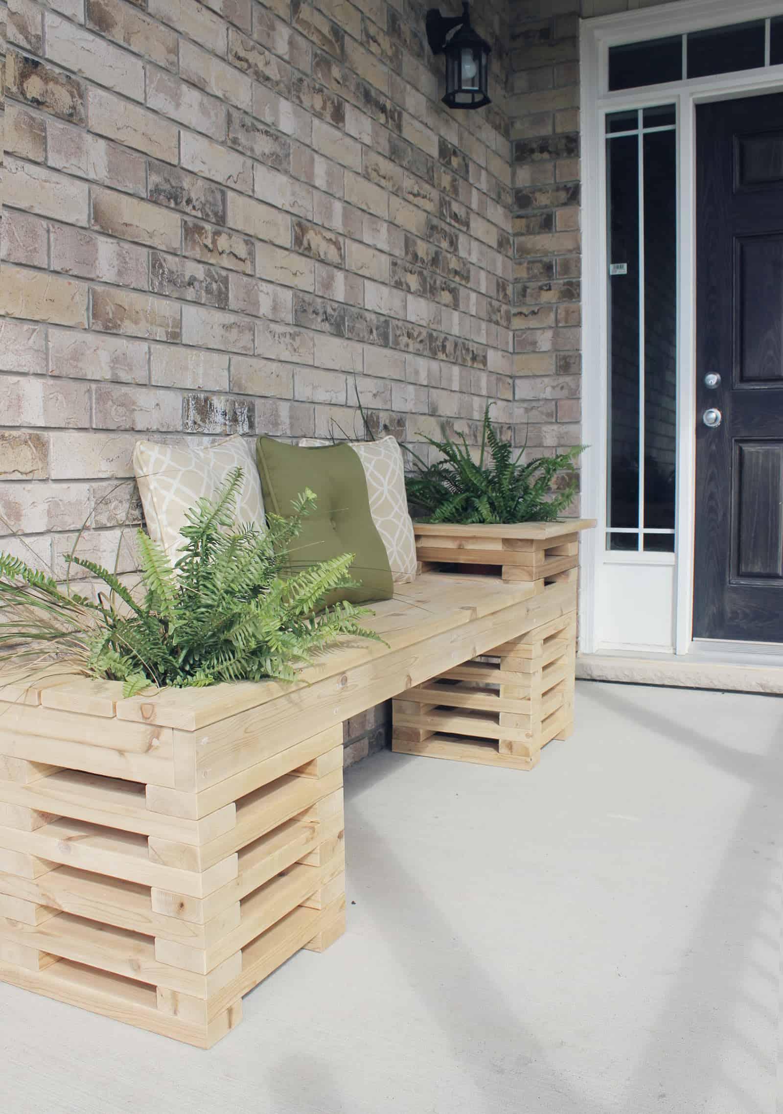Easy cedar plank bench