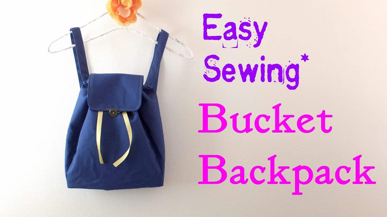Easy drawstring backpack with a flap