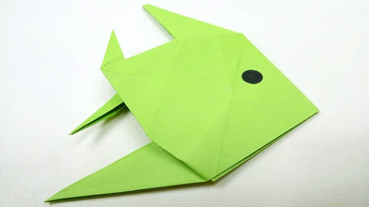 Easy Origami Fish – Origami For Kids - Origami Ideas | 720x1280