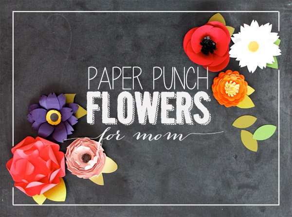 Easy paper punched flowers