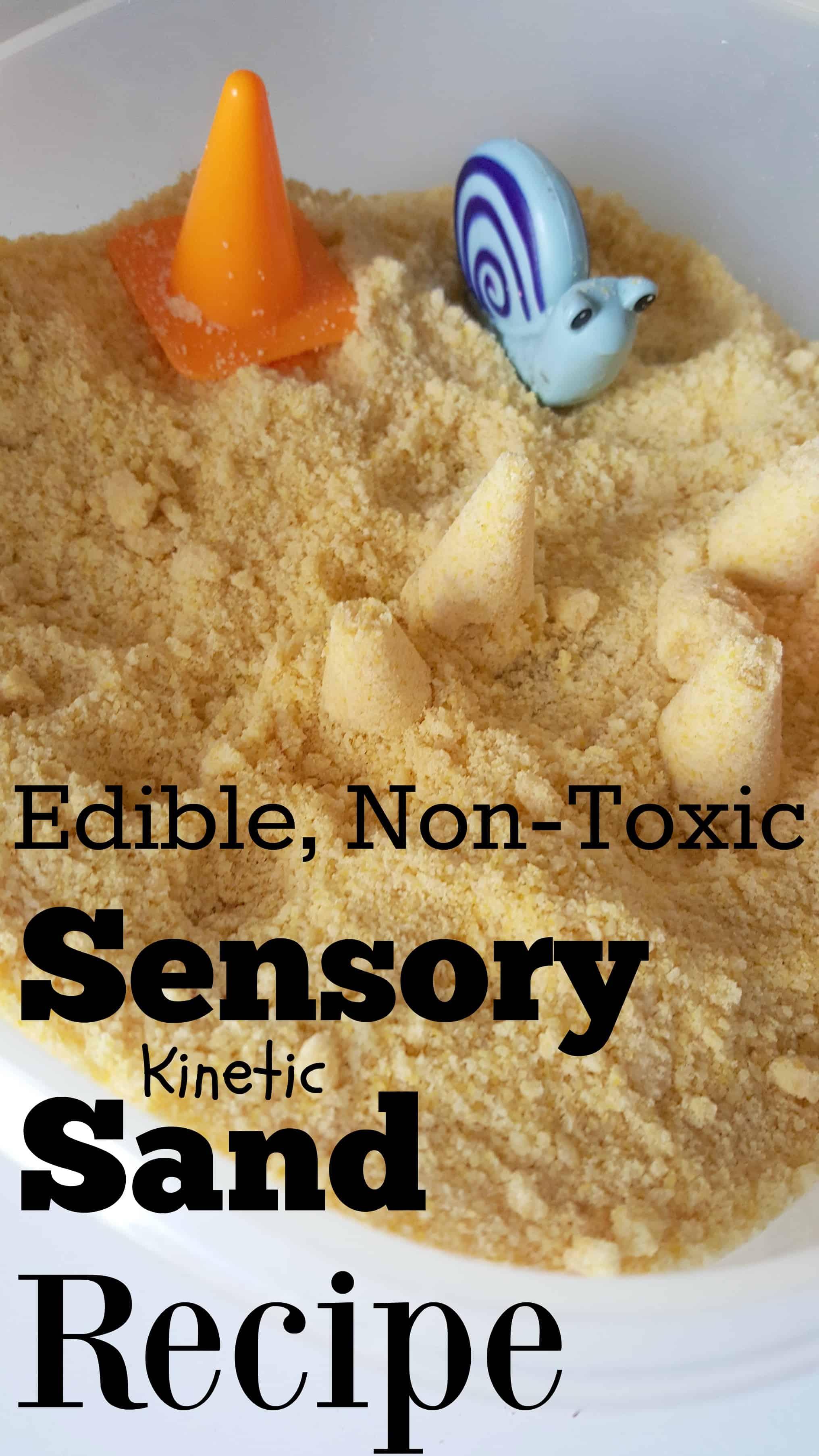 Edible kinetic sand