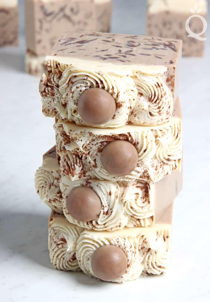 Eggnog cold process soap