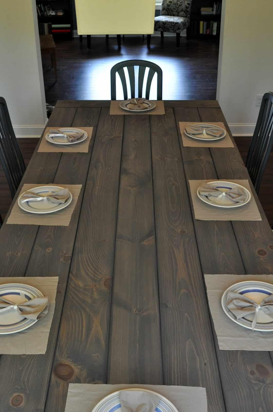 Farmhouse table with benches or chairs
