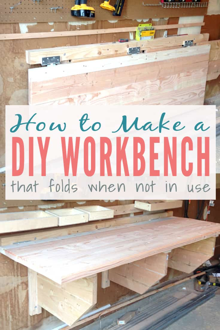 Folding workbench with storage