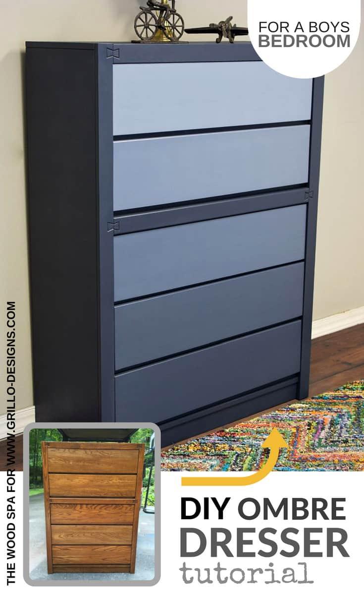 Grey ombre dresser