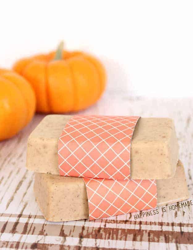 Homemade pumpkin spice soap
