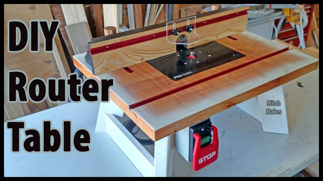 Homemade bench top router table