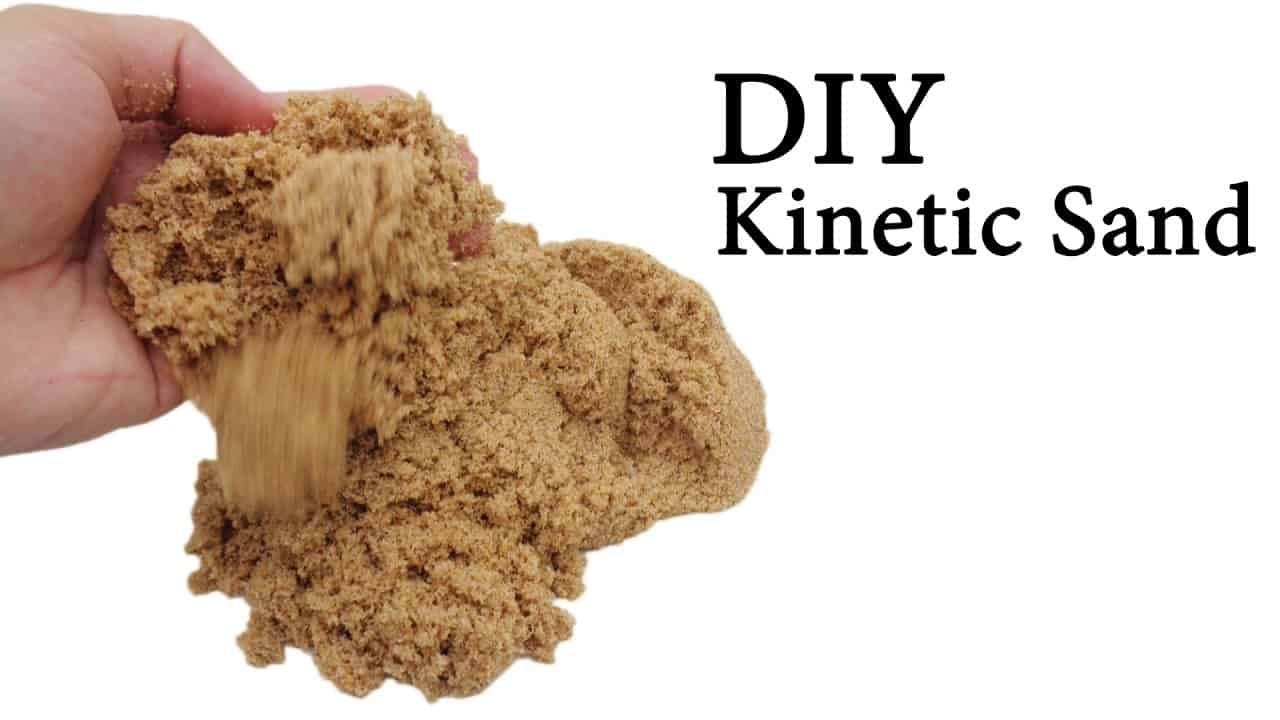 Kinetic sand made with eyedrops