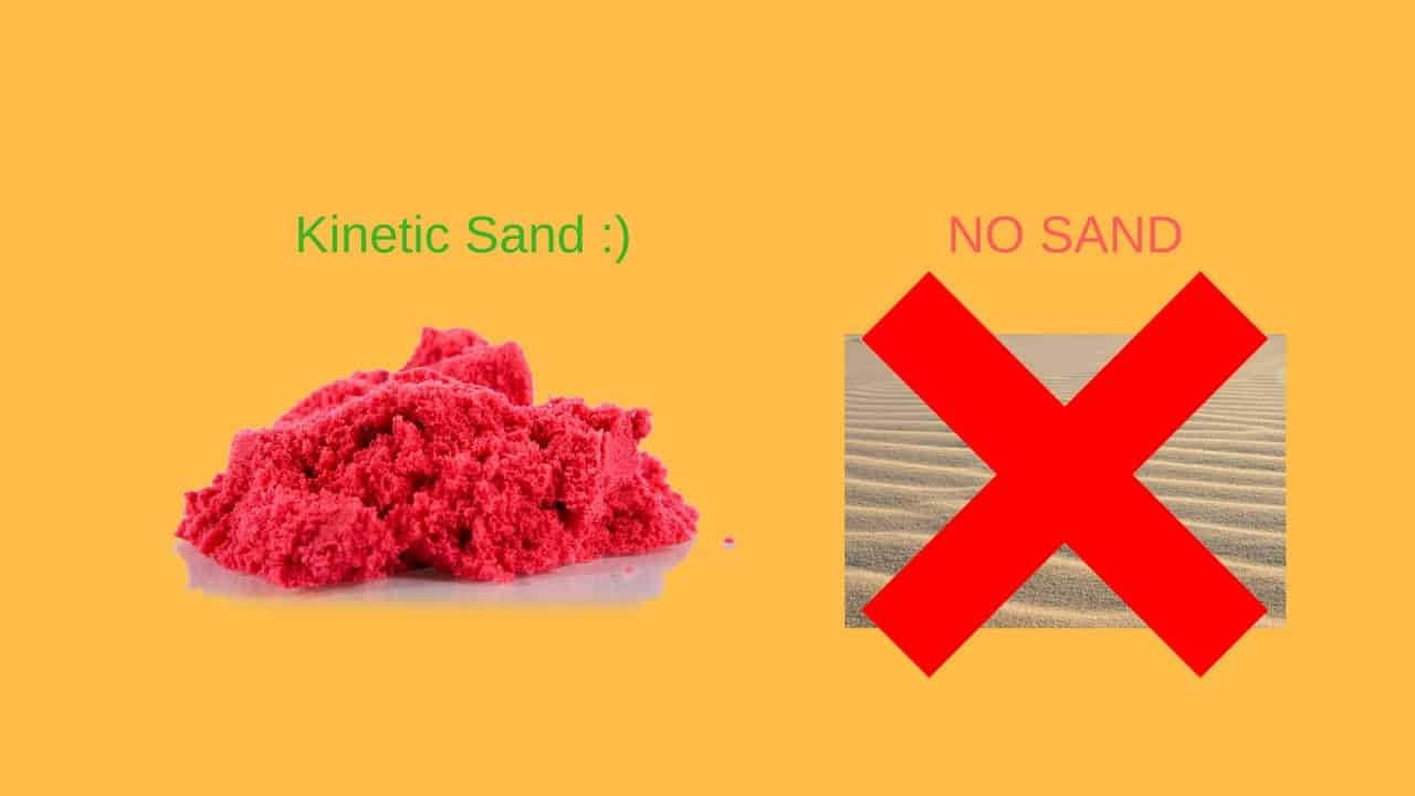 Kinetic sand made without real or play sand