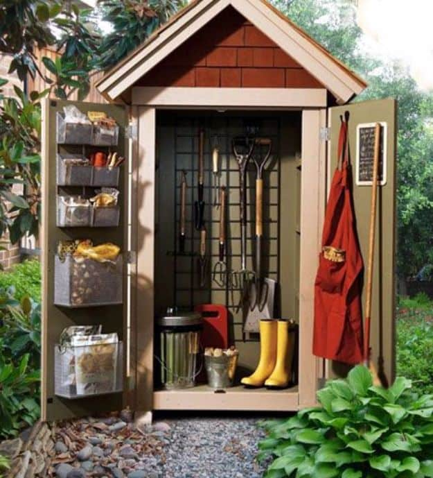 Little outdoor storage locker