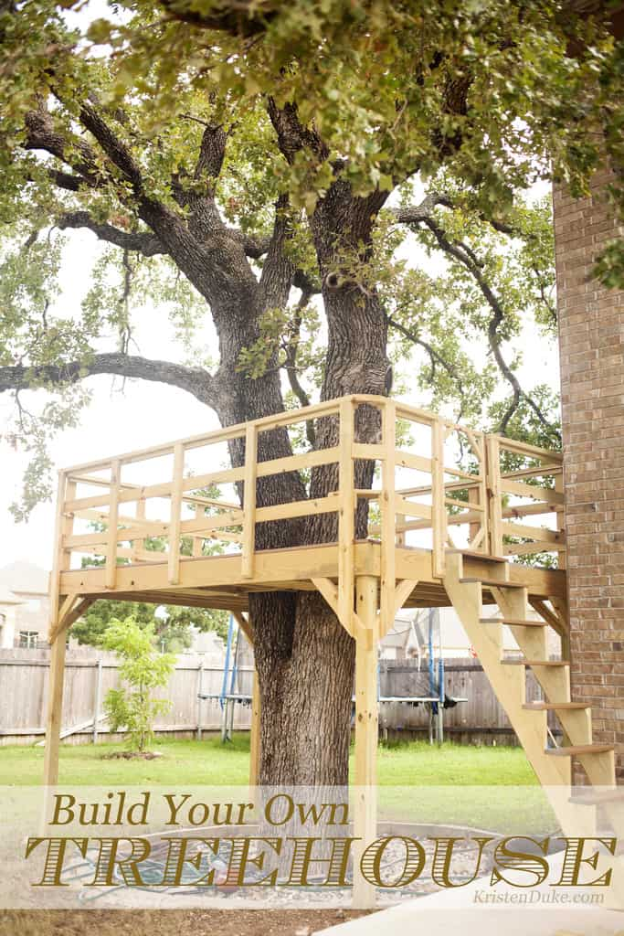 Picture of: How To Build A Treehouse For Your Backyard