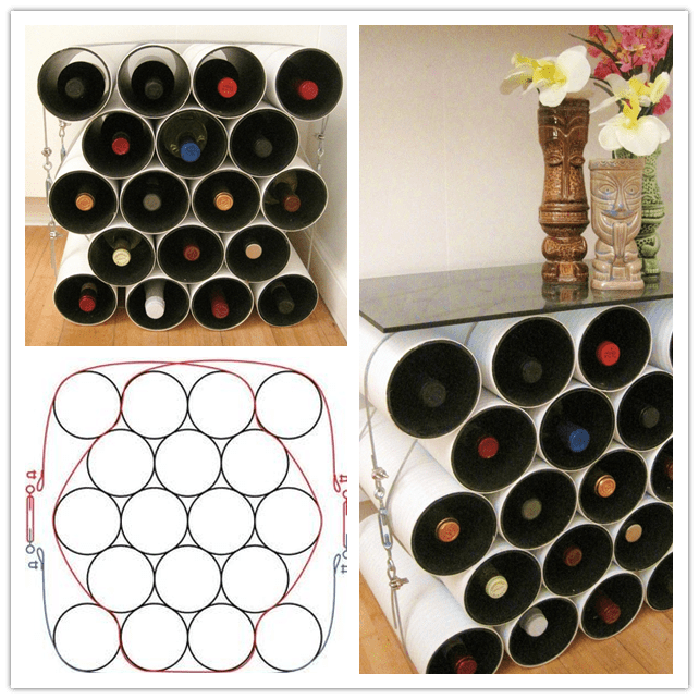 Mod pvc pipe wine rack