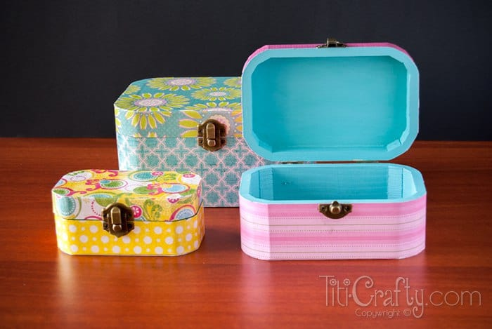 Mod podge and scrapbook paper box