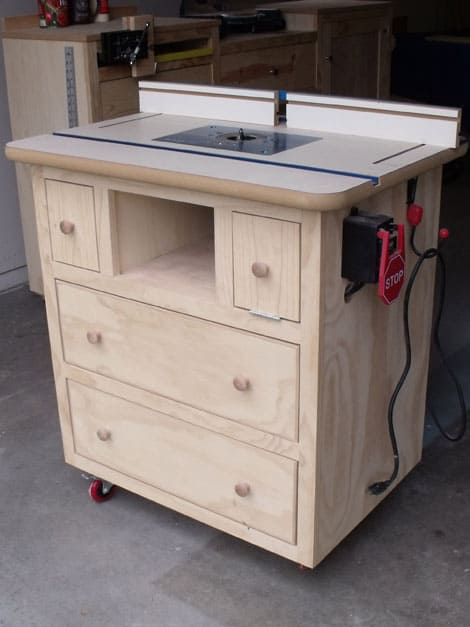 Neat and tidy router table
