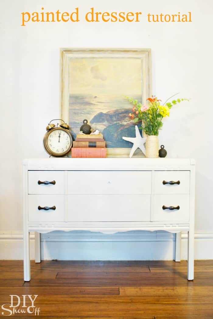 Neatly painted dresser
