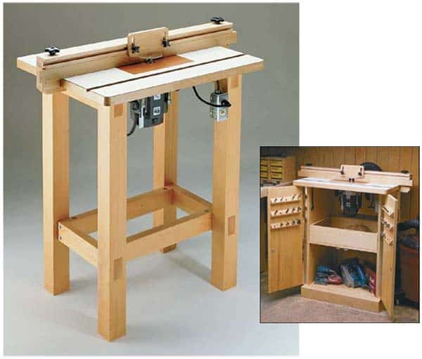 Novice standing router table