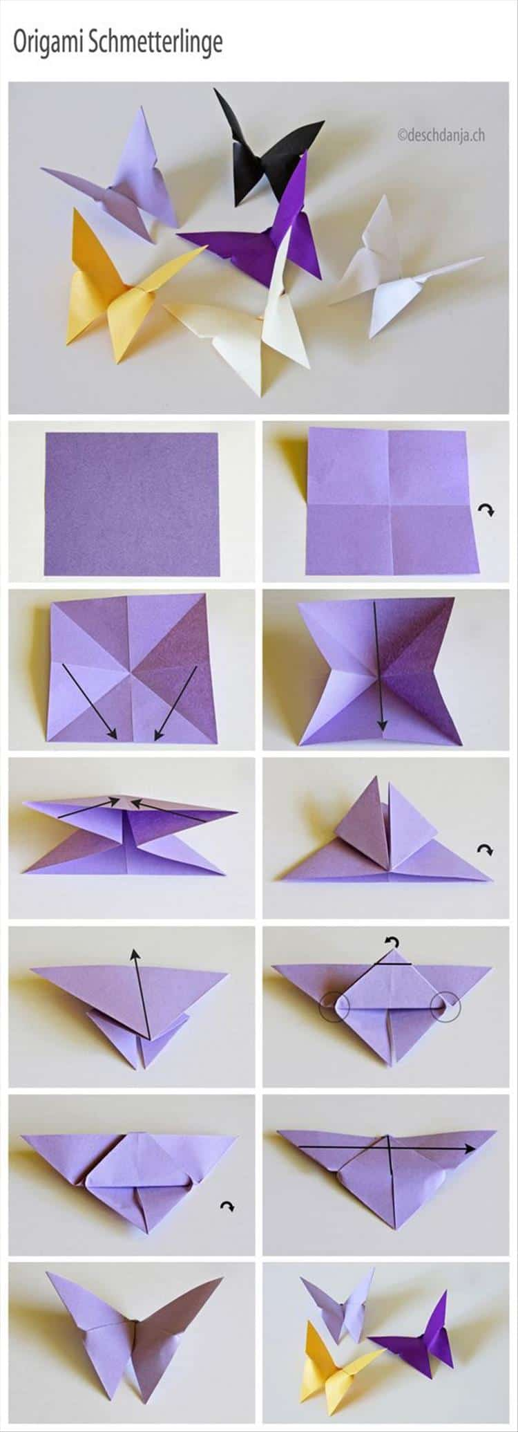 Origami butterglies