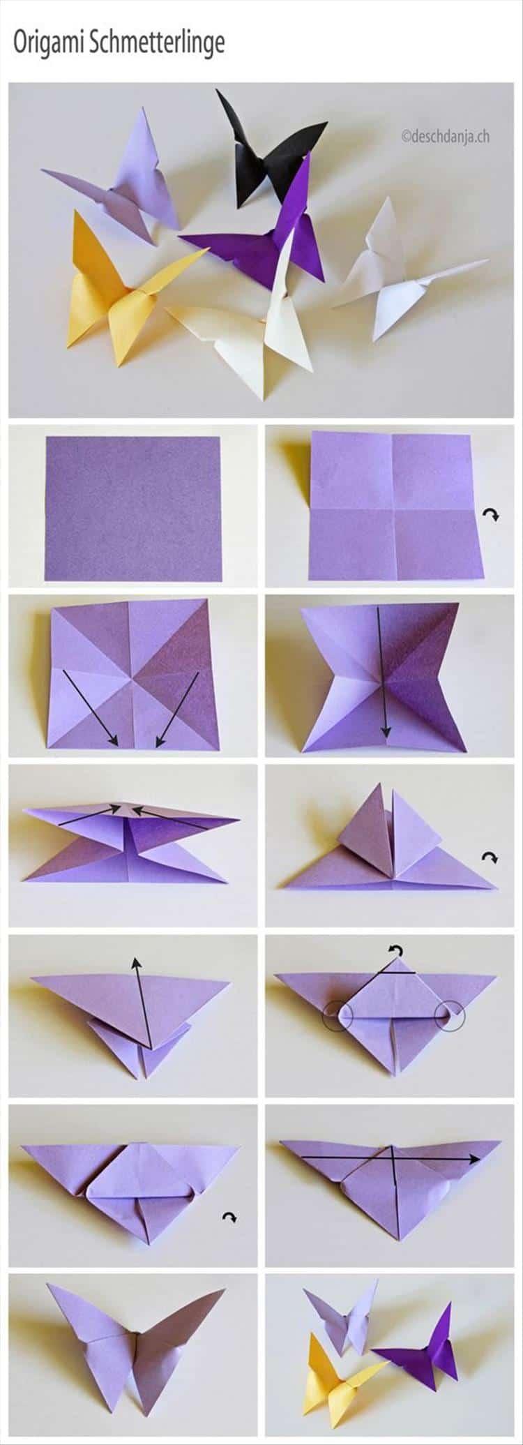 Origami butterglies
