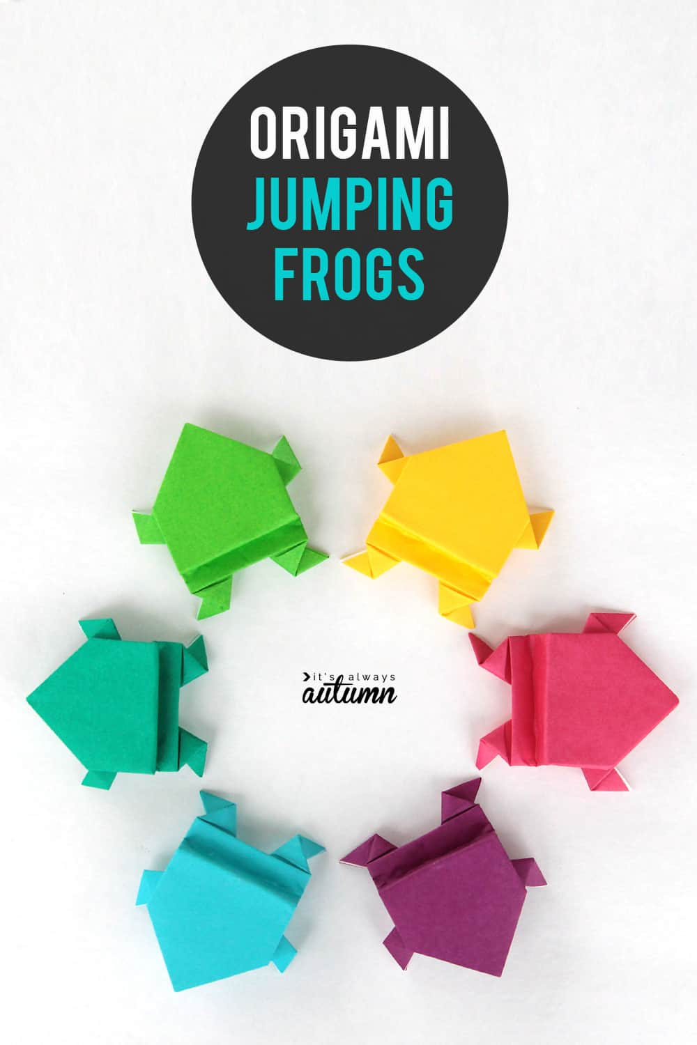 Origami jumping frogs