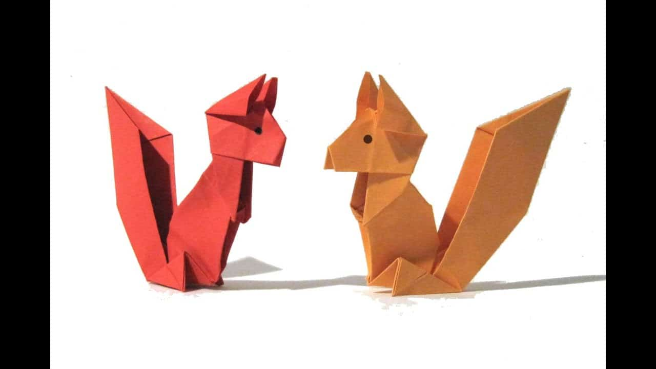 Origami squirrels