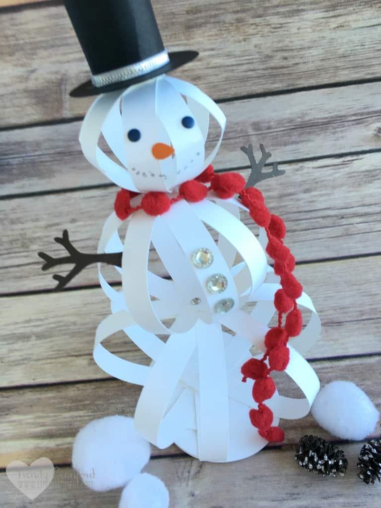Paper strip snowman