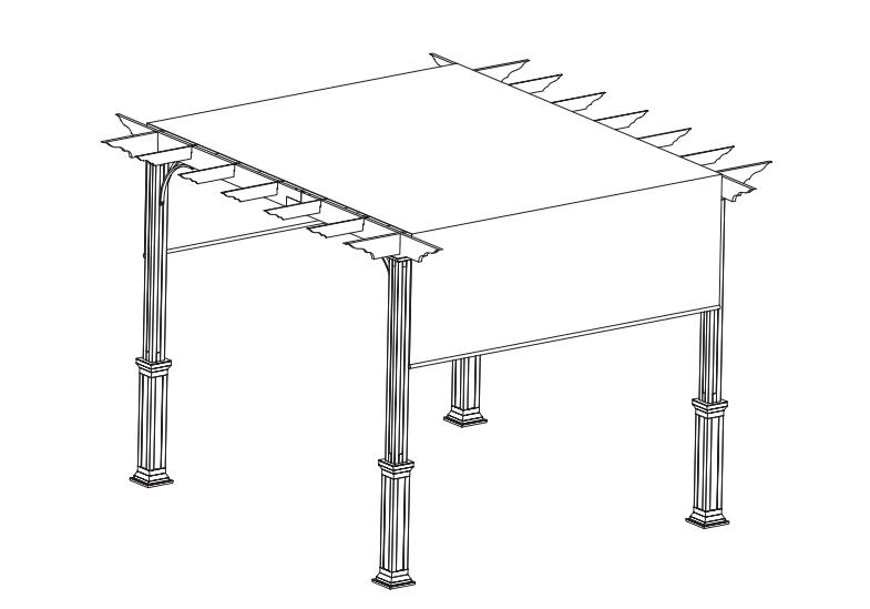 Pergola with canopy