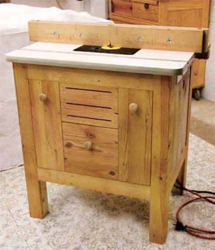 Router table from a wooden cabinet