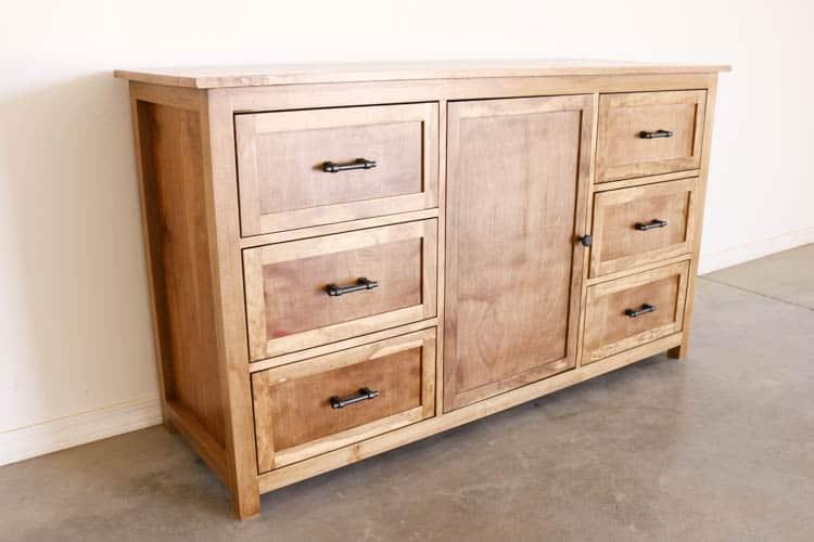 Sanded rustic dresser