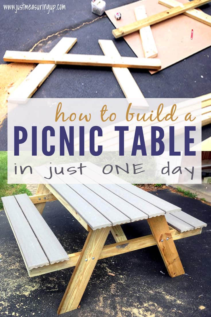 Simple one day picnic table