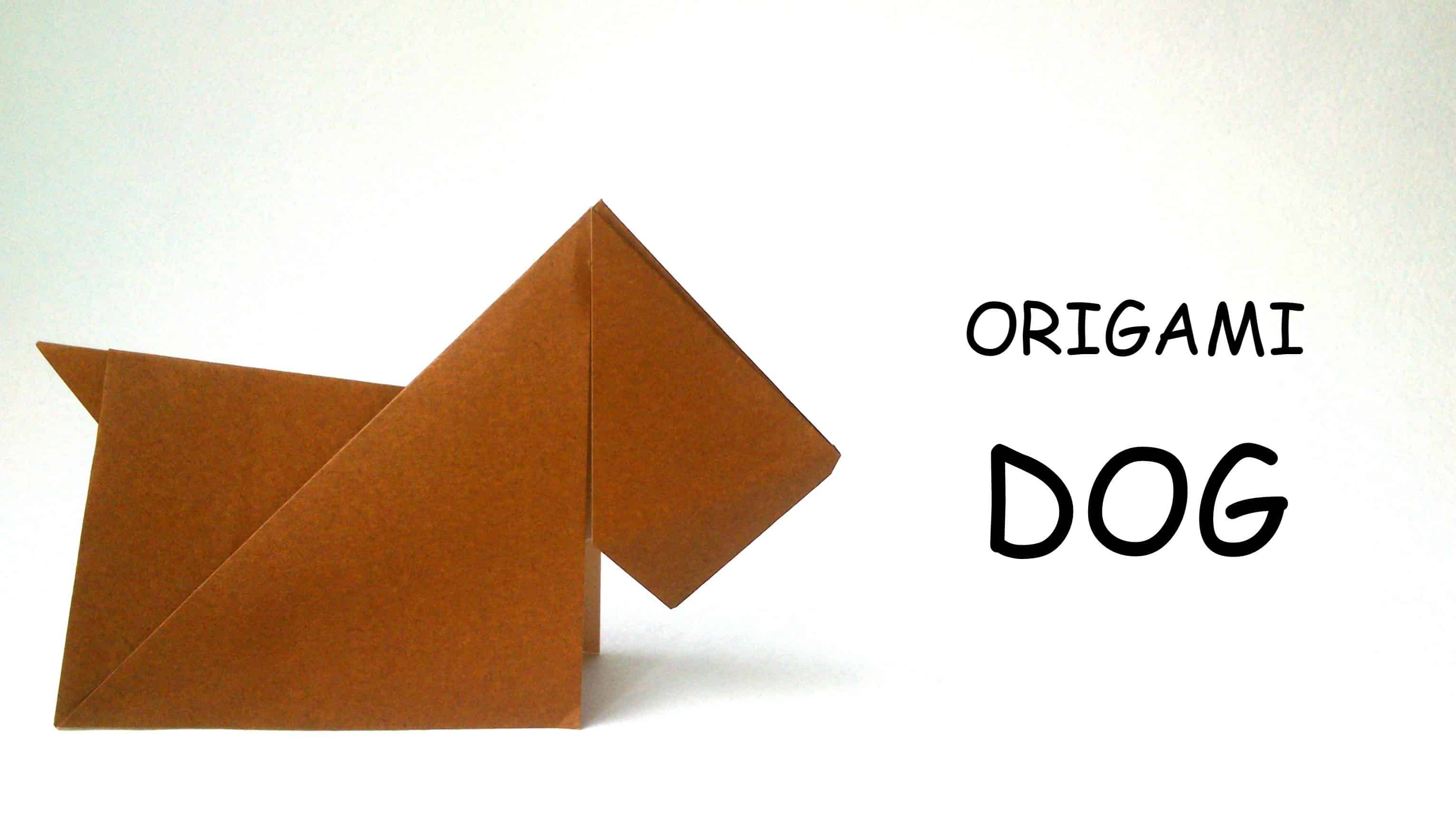 Simple origami dog