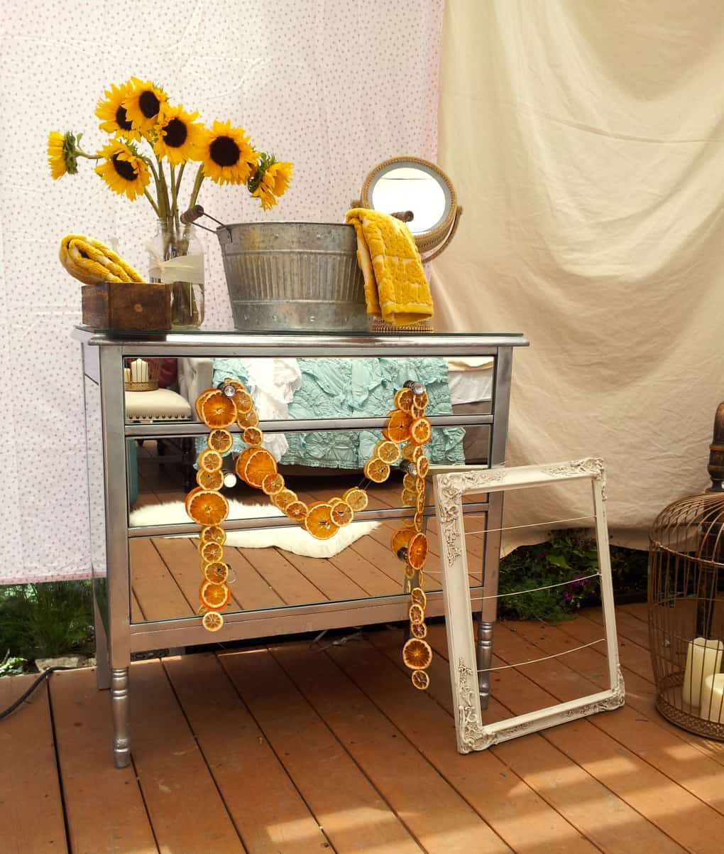 Singular pieced mirrored dresser